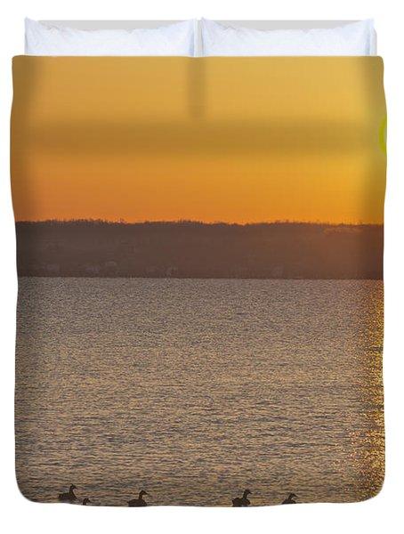 Morning Swim Duvet Cover by William Norton