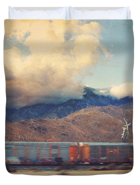 Morning Train Duvet Cover by Laurie Search