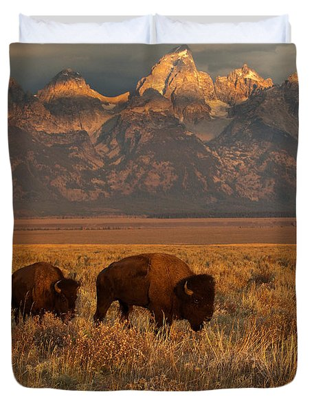 Morning Travels In Grand Teton Duvet Cover