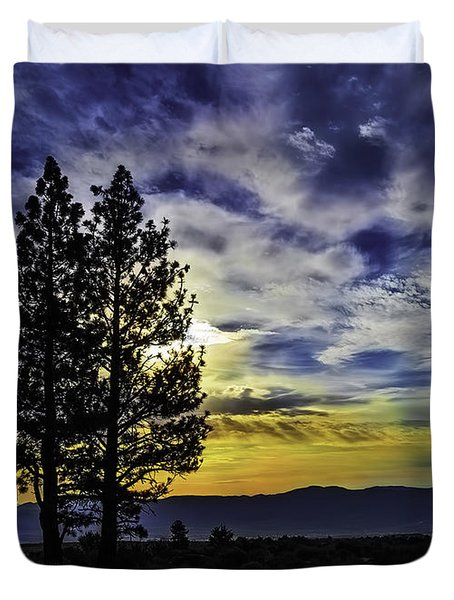 Duvet Cover featuring the photograph Morning Twilight by Nancy Marie Ricketts