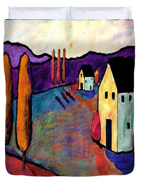 Morning Village Duvet Cover