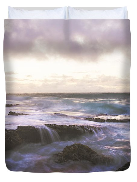 Morning Waves Duvet Cover by Brian Harig