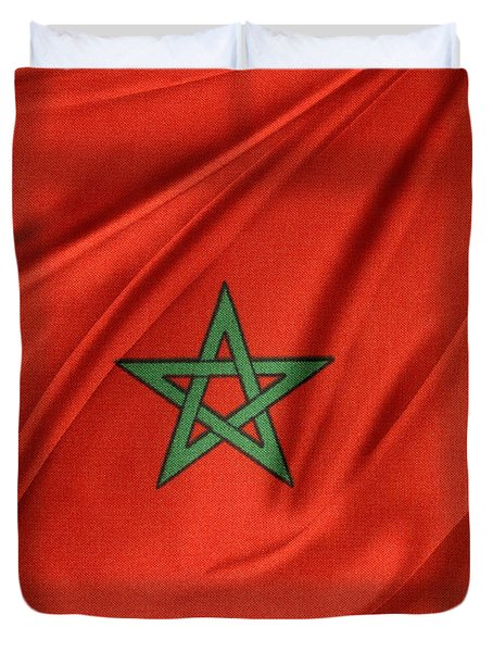 Moroccan Flag Duvet Cover by Les Cunliffe