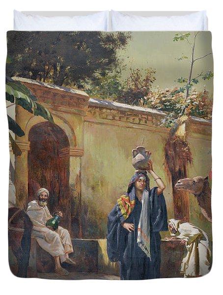 Moroccan Scene Duvet Cover