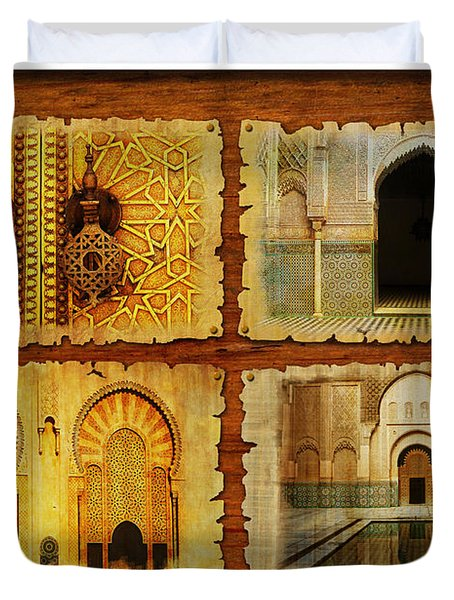 Morocco Heritage Poster 01 Duvet Cover by Catf