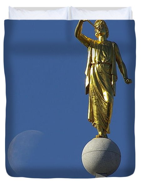 Moroni And The Moon Duvet Cover by David Andersen