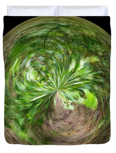 Morphed Art Globe 3 Duvet Cover by Rhonda Barrett