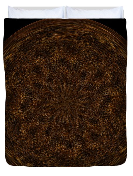 Morphed Art Globe 32 Duvet Cover by Rhonda Barrett