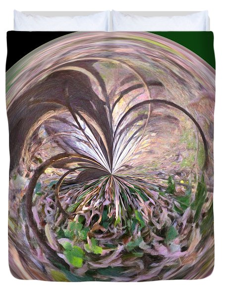 Morphed Art Globe 36 Duvet Cover by Rhonda Barrett