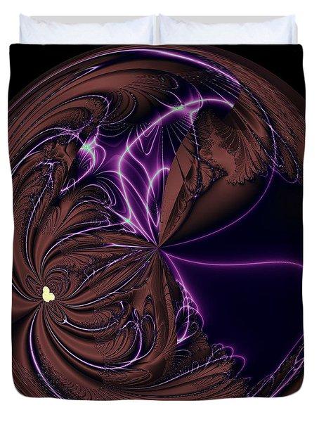 Morphed Art Globe 39 Duvet Cover by Rhonda Barrett