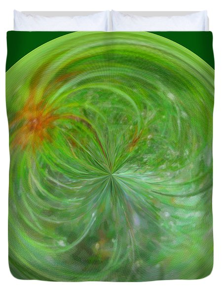 Morphed Art Globe 5 Duvet Cover by Rhonda Barrett