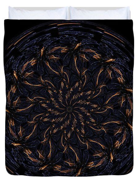 Morphed Art Globes 14 Duvet Cover by Rhonda Barrett