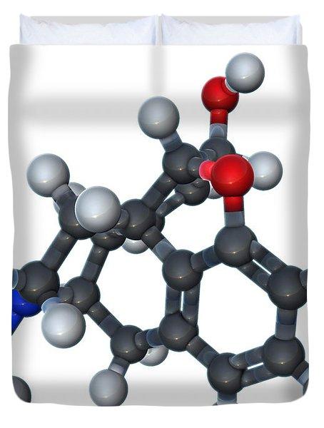Morphine Molecular Model Duvet Cover
