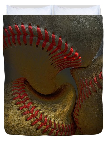 Morphing Baseballs Duvet Cover by Bill Owen