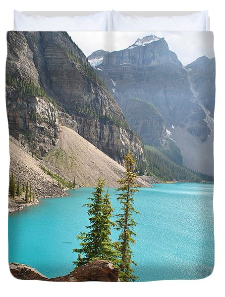 Morraine Lake Duvet Cover by Jim Hogg