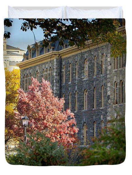 Morrill Hall Cornell University Duvet Cover