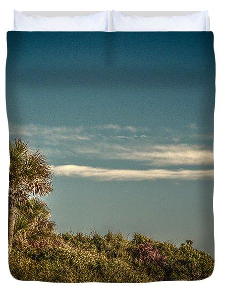 Morris Island Light Charleston Sc Duvet Cover