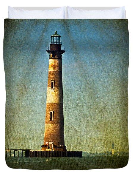 Morris Island Light Color Vintage Duvet Cover