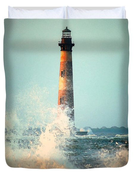 Morris Island Lighthouse Duvet Cover