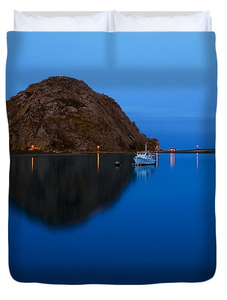 Morro Bay Calm Morning Duvet Cover