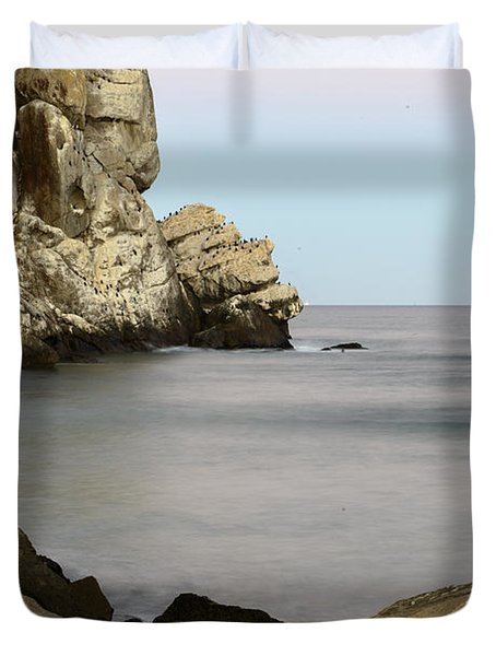 Morro Bay Morning 2 Duvet Cover