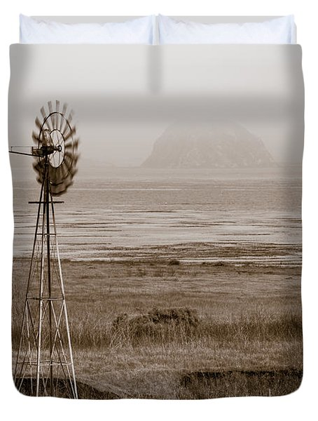 Morro Bay Windmill Duvet Cover