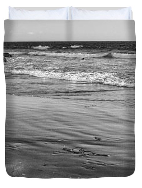 Morro Beach Walk Duvet Cover