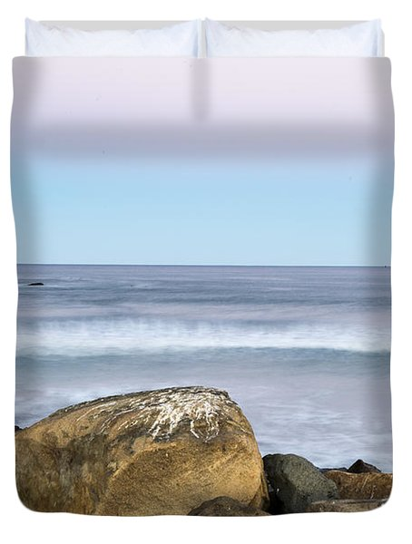 Morro Rock Morning Duvet Cover
