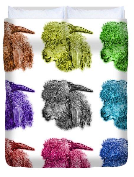 Mosaic Angora Goat - 0073 F - M - Wb Duvet Cover