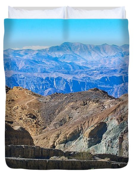 Duvet Cover featuring the photograph Mosaic Canyon Picnic by Stuart Litoff