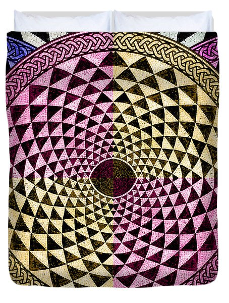 Mosaic Circle Symmetric  Duvet Cover by Tony Rubino