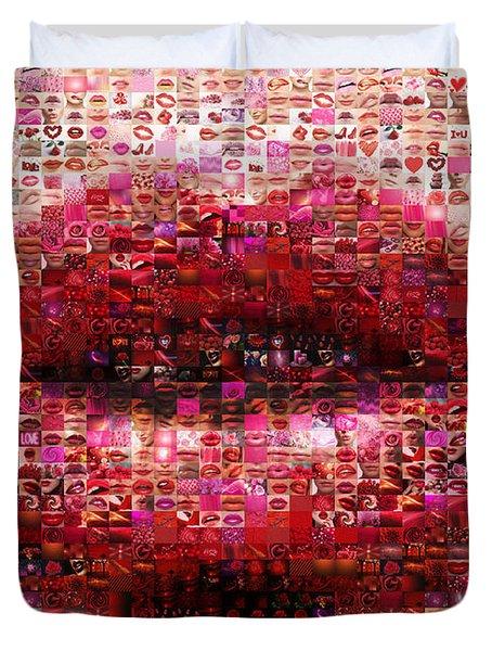 Mosaic Lips Duvet Cover