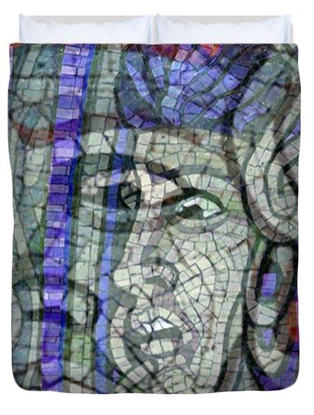 Mosaic Medusa Duvet Cover by Tony Rubino