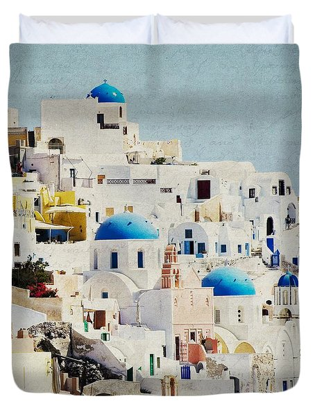 Mosaic - Santorini Duvet Cover