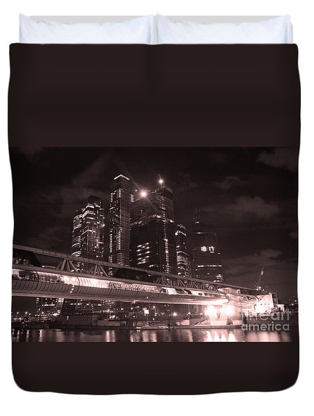 Moscow At Night Duvet Cover by Lali Kacharava