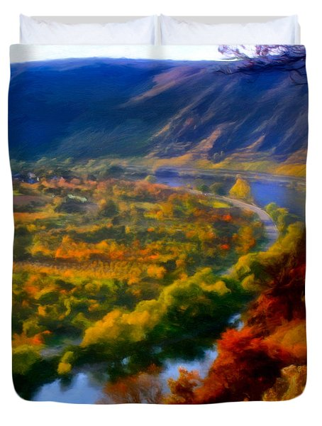 Mosel In The Fall Duvet Cover by Michael Pickett