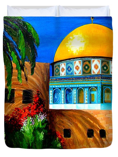 Mosque - Dome Of The Rock Duvet Cover