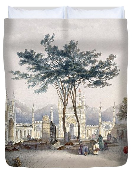 Mosque Of Goolaum Hoossein Huzrut-jee Duvet Cover by James Rattray