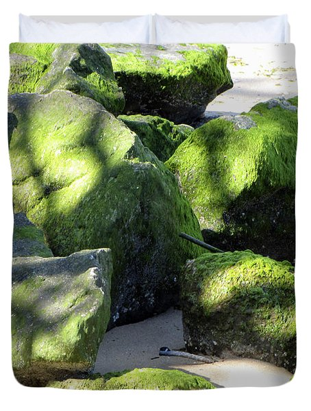Moss On The Rocks Duvet Cover