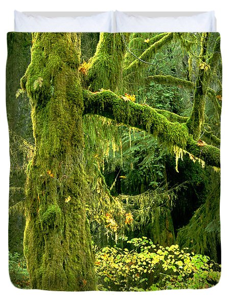 Duvet Cover featuring the photograph Moss Draped Big Leaf Maple California by Dave Welling