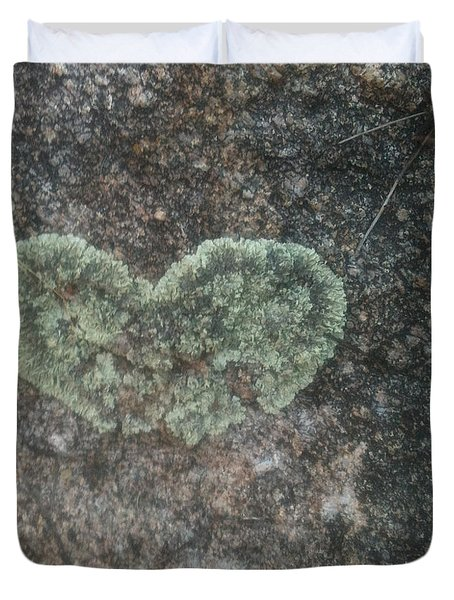 Moss Heart  Duvet Cover