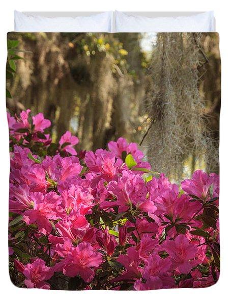 Moss Over Azaleas Duvet Cover
