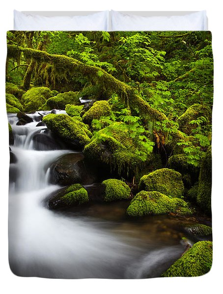 Mossy Arch Cascade Duvet Cover by Darren  White