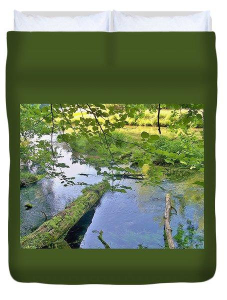 Mossy Log Duvet Cover