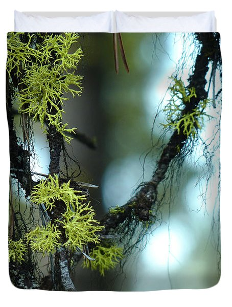 Mossy Playground Duvet Cover by Meghan at FireBonnet Art