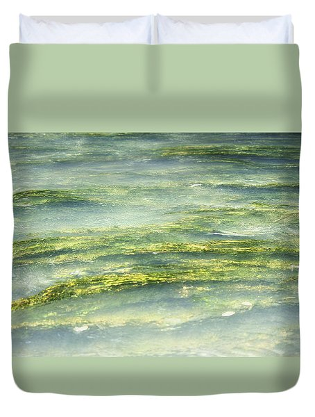 Mossy Tranquility Duvet Cover by Melanie Lankford Photography