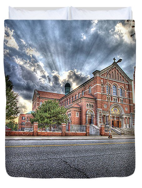 Most Holy Redeemer Catholic Church Detroit Mi Duvet Cover