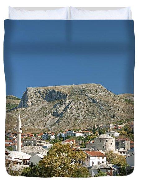 Mostar In Bosnia Herzegovina Duvet Cover