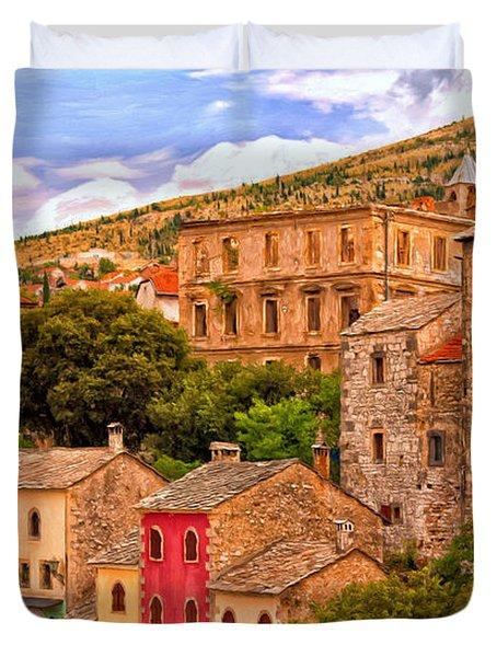 Mostar Duvet Cover by Michael Pickett