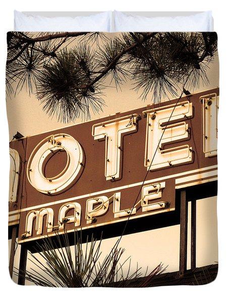 Motel Maple Duvet Cover